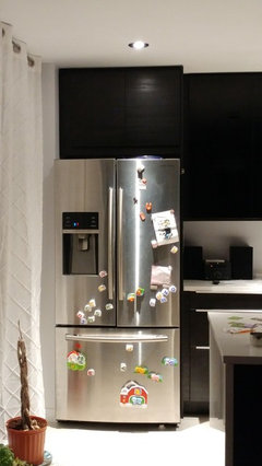 """IKEA kitchen - solutions for cabinet over 33"""" fridge"""