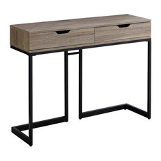 42-inch Accent Table Dark Taupe Black Hall Console