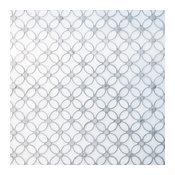 Italian Carrara White Marble Polished Floral Mosaic Tile, White, 5 Sheets