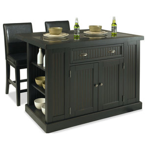 Sunset Trading Kitchen Island with Leaf - Contemporary ...