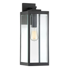 "Quoizel - 1-Light Westover Outdoor Lantern, Earth Black, 7""x8.5""x20"" - Outdoor Wall Lights and Sconces"