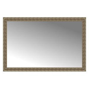 """58""""x38"""" Custom Framed Mirror, Distressed Silver"""