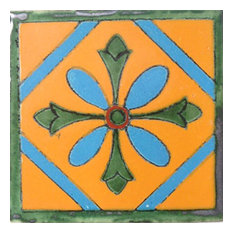 "4""x4"" Mexican Ceramic Handmade Tile #C012"