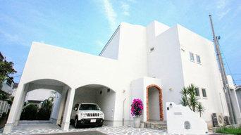茅ヶ崎市K様邸 エーゲ海サントリーニ島風の青と白をモチーフにしたオープン外構
