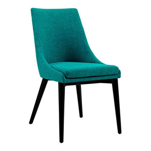 Viscount Upholstered Fabric Dining Side Chair Midcentury