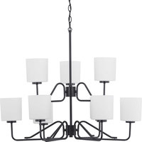 Tobin 9-Light Chandelier, Black