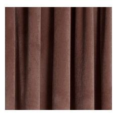 "Milan Coral Blush, Luxurious Velvet, Drapery Panel, Pinch Pleat, 24 X 115"""