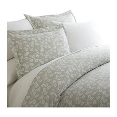 Home Collection Premium 3 Piece Wheatfield Printed Duvet Cover Set, Twin, Gray