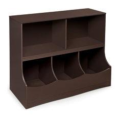 Multi-Bin Storage Cubby - Espresso