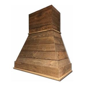 Castlewood Rustic Shiplap Chimney Range Hood - Brown, 30