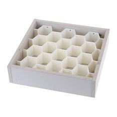 Plastic Cellular Partition Honeycomb Shaped Drawer Divider, Set of 8