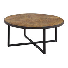 Emerald Home   Emerald Home Denton Round Cocktail Table   Coffee Tables