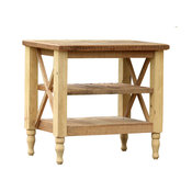 "37"" Hand Crafted French Provincial Reclaimed Wood Kitchen Island"