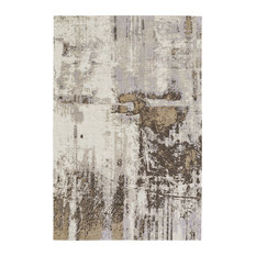 Neutral Celestial-Abstract Rectangular Flat Woven Rug, 9' X12'