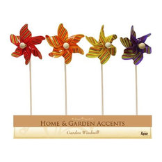 "Alpine 12"" Colorful Pinwheel Garden Stakes, Assorted, Display of 24"