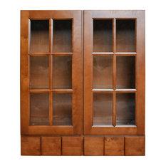 "Sunny Wood ESW3642GD6-A Ellisen 36"" x 42"" Wall Cabinet - Amber Spice"