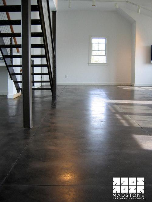 Decorative concrete floors epoxy polished stained concrete flooring