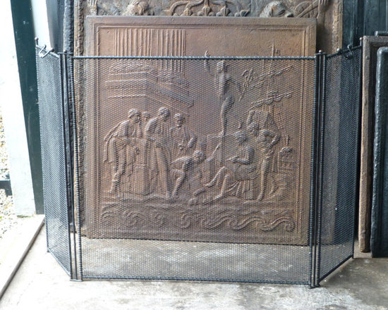 French Fireplace Screens. French Antique Bronze Fireplace ...