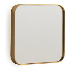Salvador Golden Square Wall Mirror, 30x30 cm