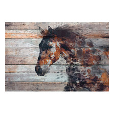 "Marmont Hill, ""Fire Horse"" by Irena Orlov Painting on Wrapped Canvas, 60x40"