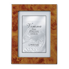 Natural Faux Burl 5x7 Picture Frame - Polished Lustrous Finish