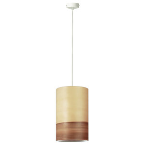 Funk Green Pendant Lamp, Short, Walnut