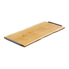 Natural Oak Serving Board, Mushroom Grey