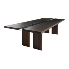 Regency Rectangular Table Black Oakwood 118-inchx47-inch