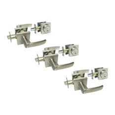 Houseguard Hardware Same Key Door Lever Deadbolt Combo Satin Nickel Style 8048