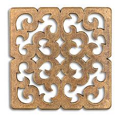 "Constantine Tile, Aged Brass, 3x3"""