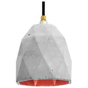 T1 Triangle Pendant Light, Grey/Copper