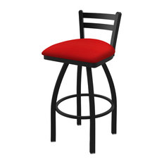 411 Jackie 30-inch Low Back Swivel Bar Stool With Canter Red Seat