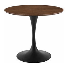 Modway Lippa 36   Round Walnut Dining Table EEI-3519-BLK-WAL