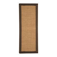 "Natural Area Rugs, Megan Stair Treads Carpet Set of 8 (9"" x 29"") Fudge Border"