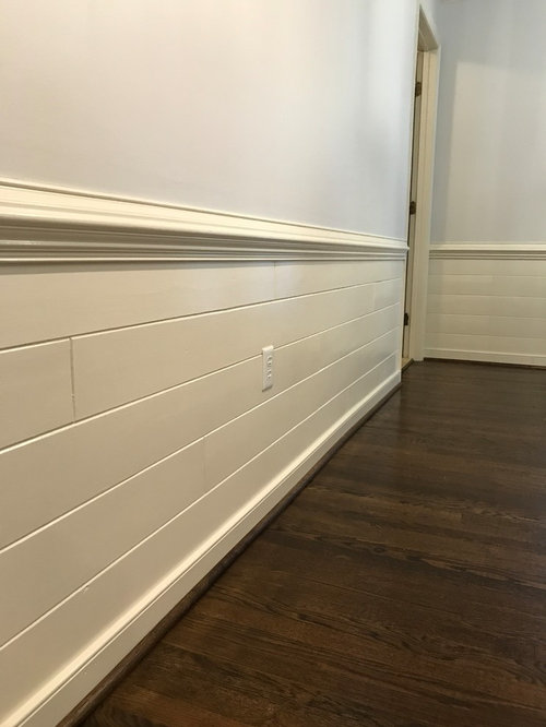 Wood Paneled Den: How To Make Painted Wood Paneling Look More Rustic/farmhouse?