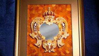 Декоративное панно в стиле янтарной комнаты