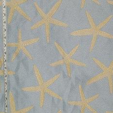 Brick House Fabrics Blue Starfish Fabric Sea Star Upholstery Pastel Standard Cut
