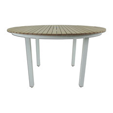 Riviera Outdoor Round Dining Table, White