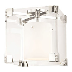 Achilles 1 Light Flush Mount in Polished Nickel