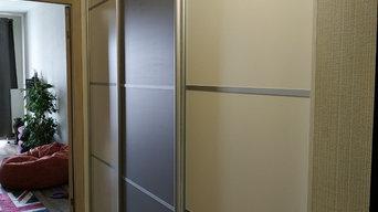 Встроенный шкаф-купе в коридоре