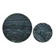 2-Piece Set Grey Marble Coasters
