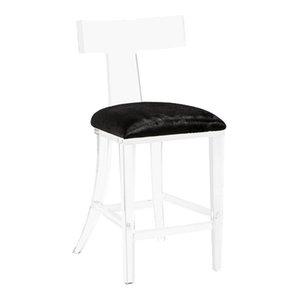 Tremendous Interlude Home Tristan Klismos Hide Bar Stool Contemporary Inzonedesignstudio Interior Chair Design Inzonedesignstudiocom
