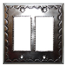 Double Decora Silver Tin Switchplate