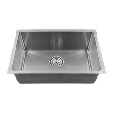 "Single Bowl 3/4"" Stainless Steel Sink, 18-Gauge, Sink Only"