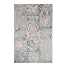Lavish Home Vintage Patchwork Rug, Beige Blue, 8'x10'