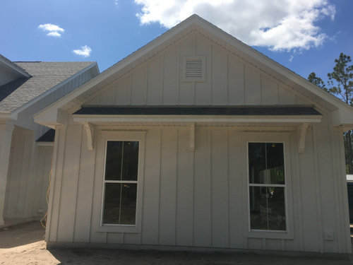 Which Corbels To Install Under Accent Metal Roof