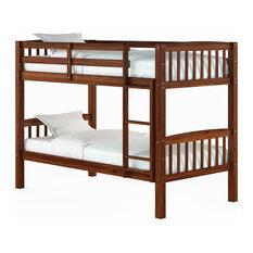 Walnut Brown Twin/Single Bunk Bed