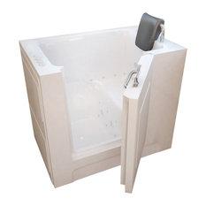 MediTub Walk-In 27 x 39 Left Drain White Whirlpool & Air Jetted Walk-In Bathtub