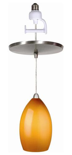 Instant pendant lights brushed nickel finished with amber glass instant pendant light conversion kit pendant lighting aloadofball Choice Image
