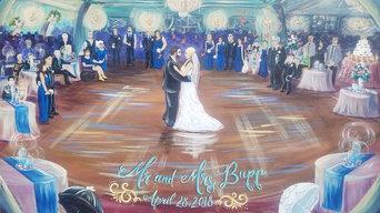 Event Painting; Bupp/Homburg Wedding 2018